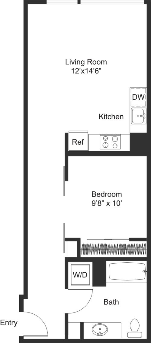 One Bedroom B1.2