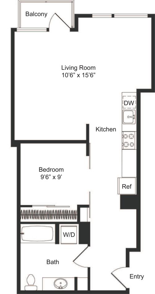 One Bedroom C2