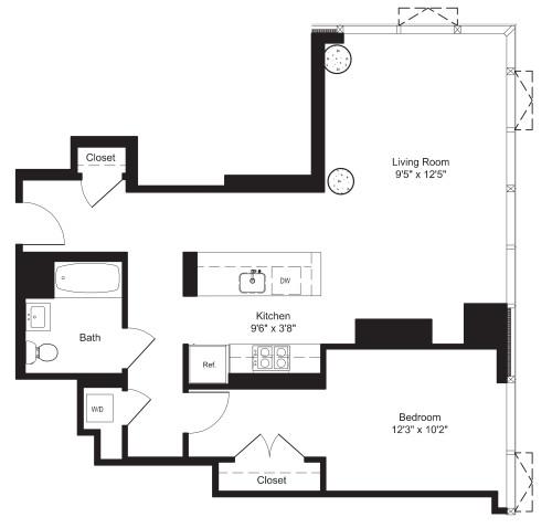 One Bedroom H 3-6