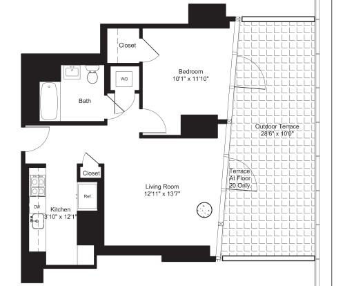 One Bedroom E 20