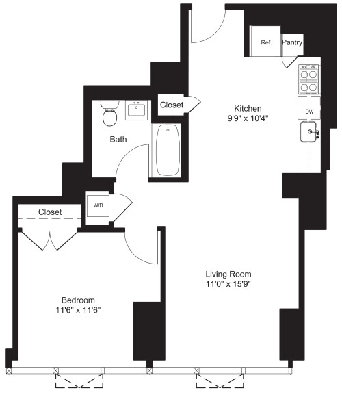 One Bedroom L 7-19