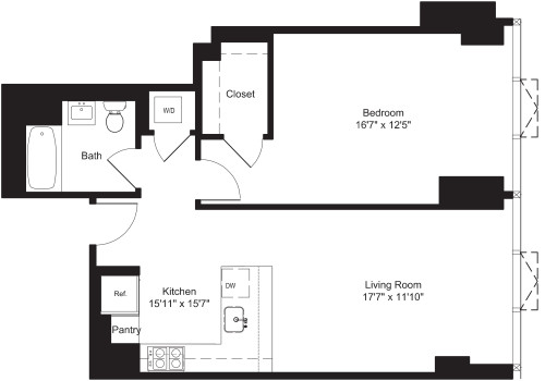 One Bedroom F 7-19