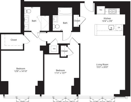 Two Bedroom J 20, I 21-22