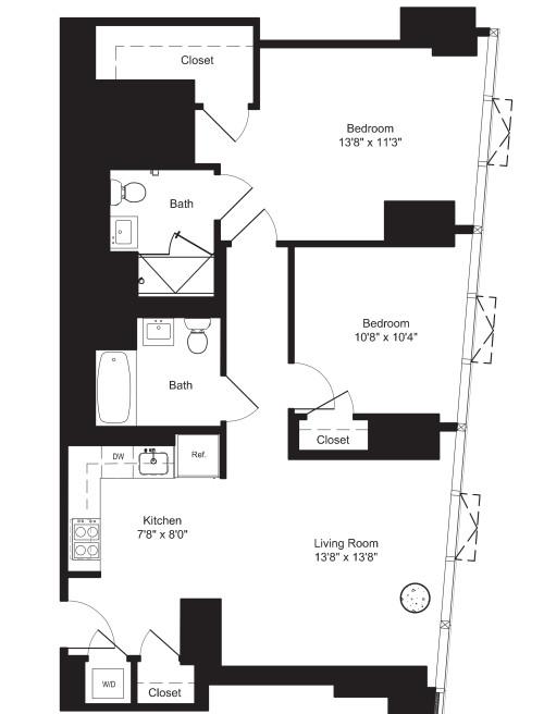 Two Bedroom E 21-22
