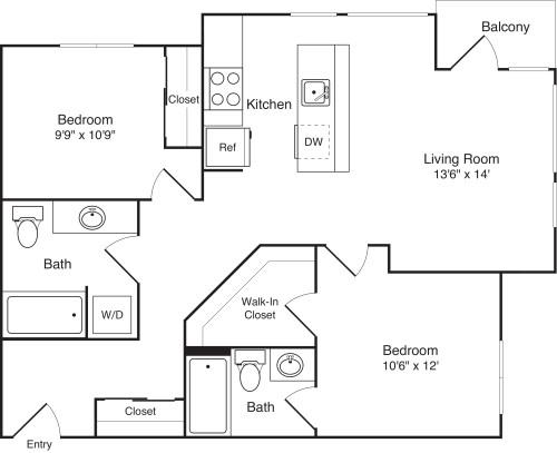 2 Bedroom H