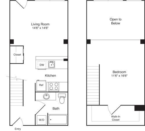 1 Bedroom Loft A