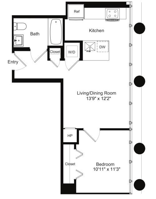 One Bedroom E 5