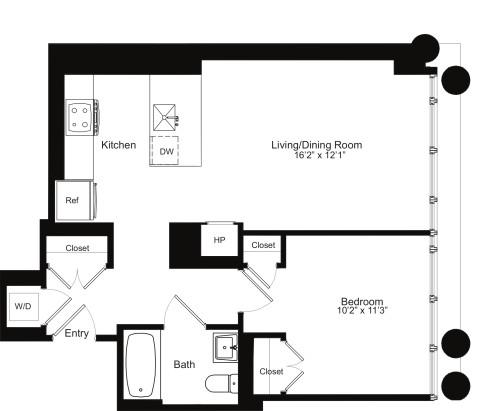 One Bedroom G 9-13