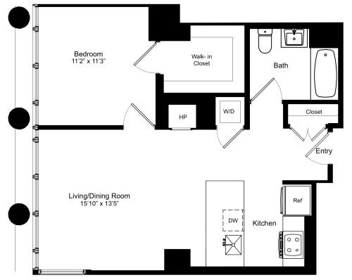 One Bedroom M 13
