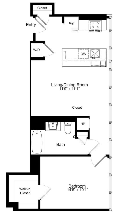 One Bedroom F 19