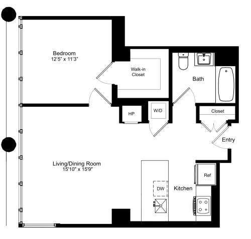 One Bedroom M 3-12
