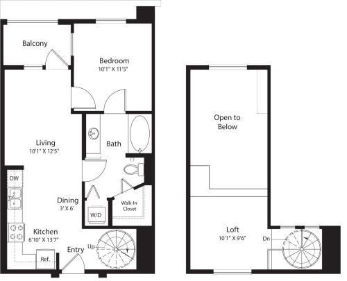 1 Bed- U01 Loft