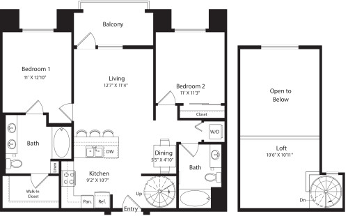 2 Bed- U20 Loft