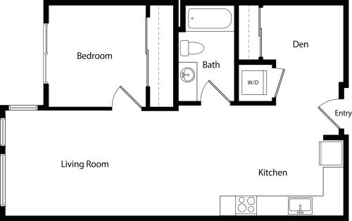 One Bedroom Den A