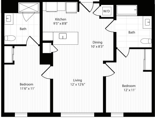 2 Bedroom F