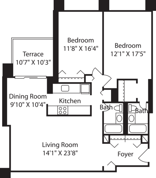 Longfellow Two Bedroom