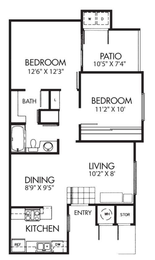 Two Bed One Bath