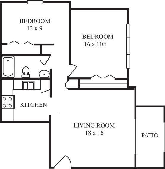 Garden Style-Comfortable bedrooms