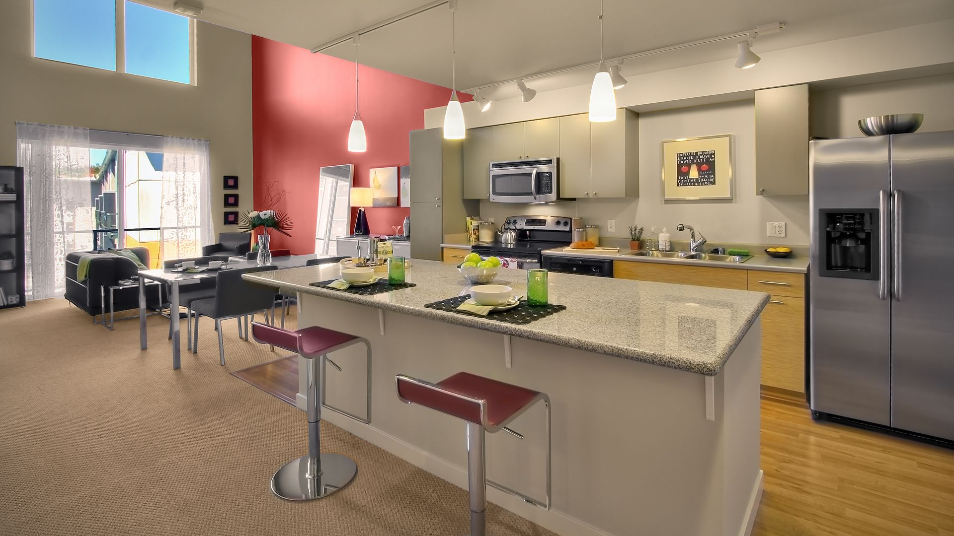 Riverpark Apartments - Kitchen and Dining Room