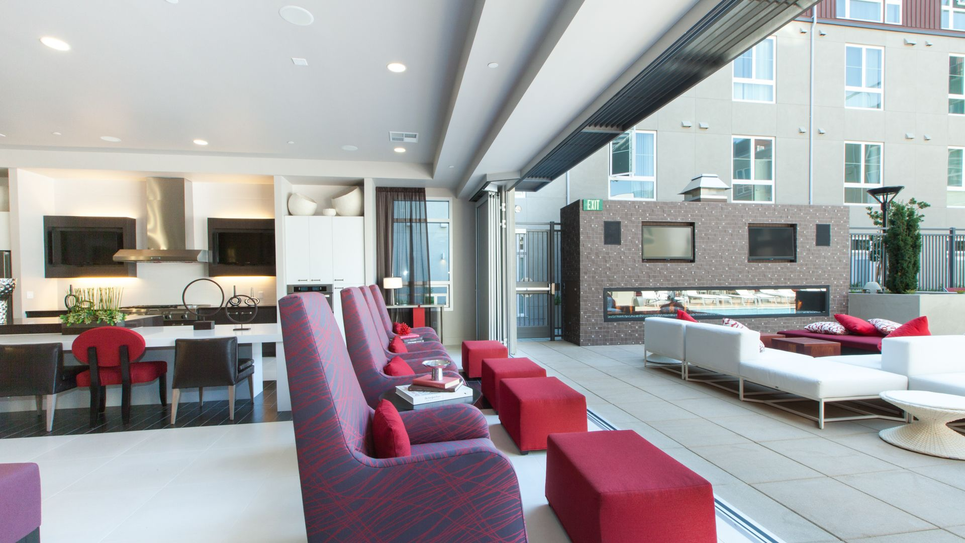 Domain Apartments - Resident Lounge