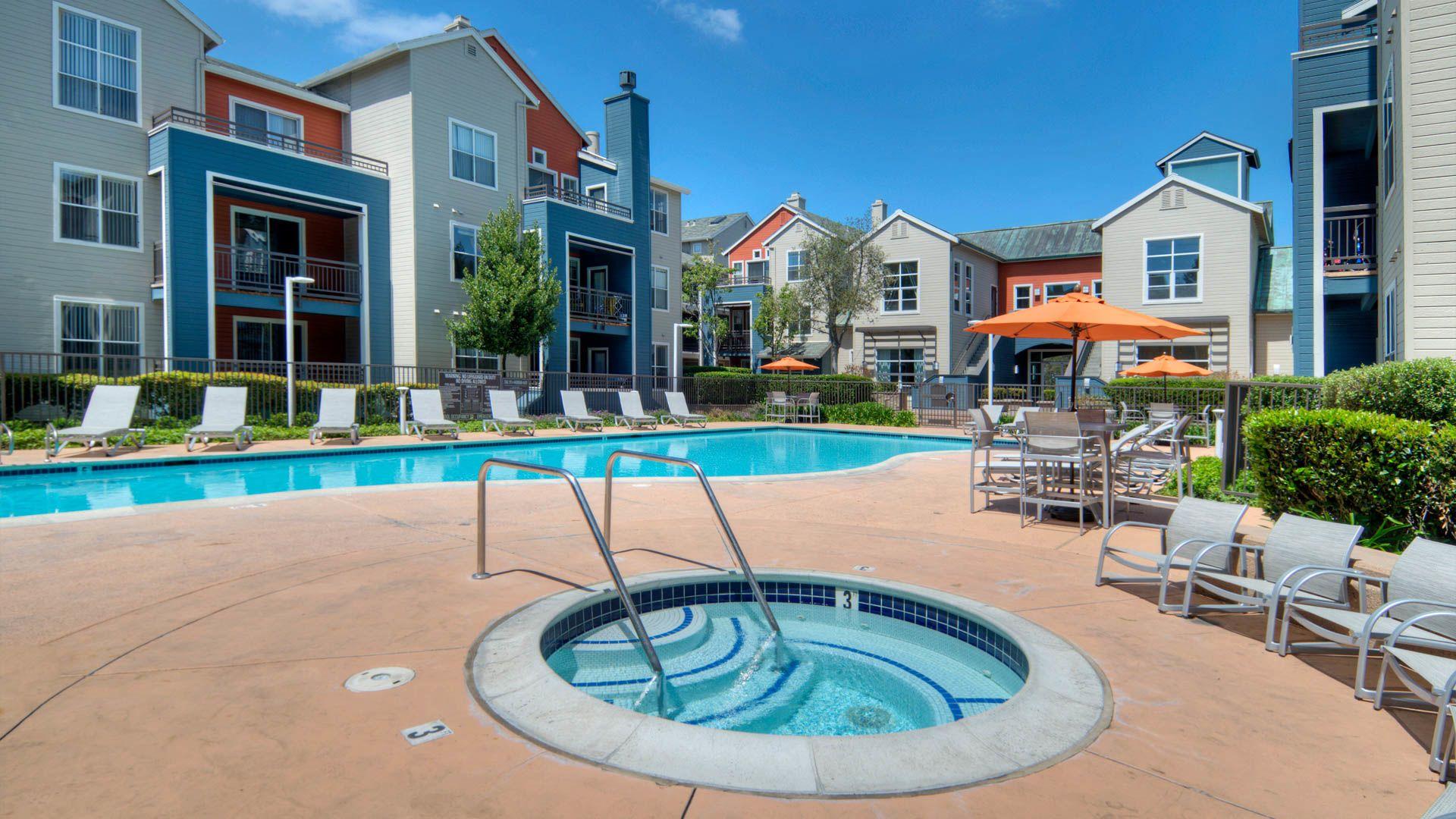 City Gate at Cupertino Apartments - Swimming Pool and Hot Tub