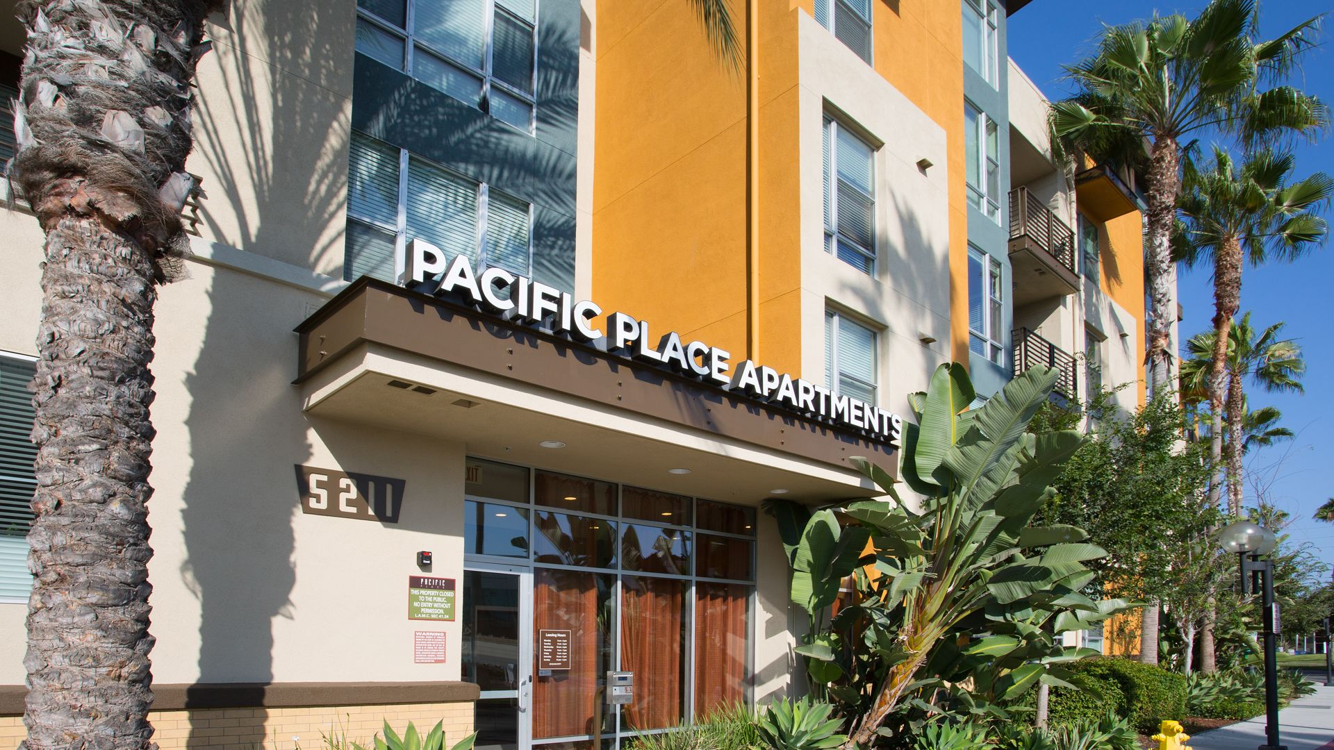 Pacific Place Apartments - Entrance