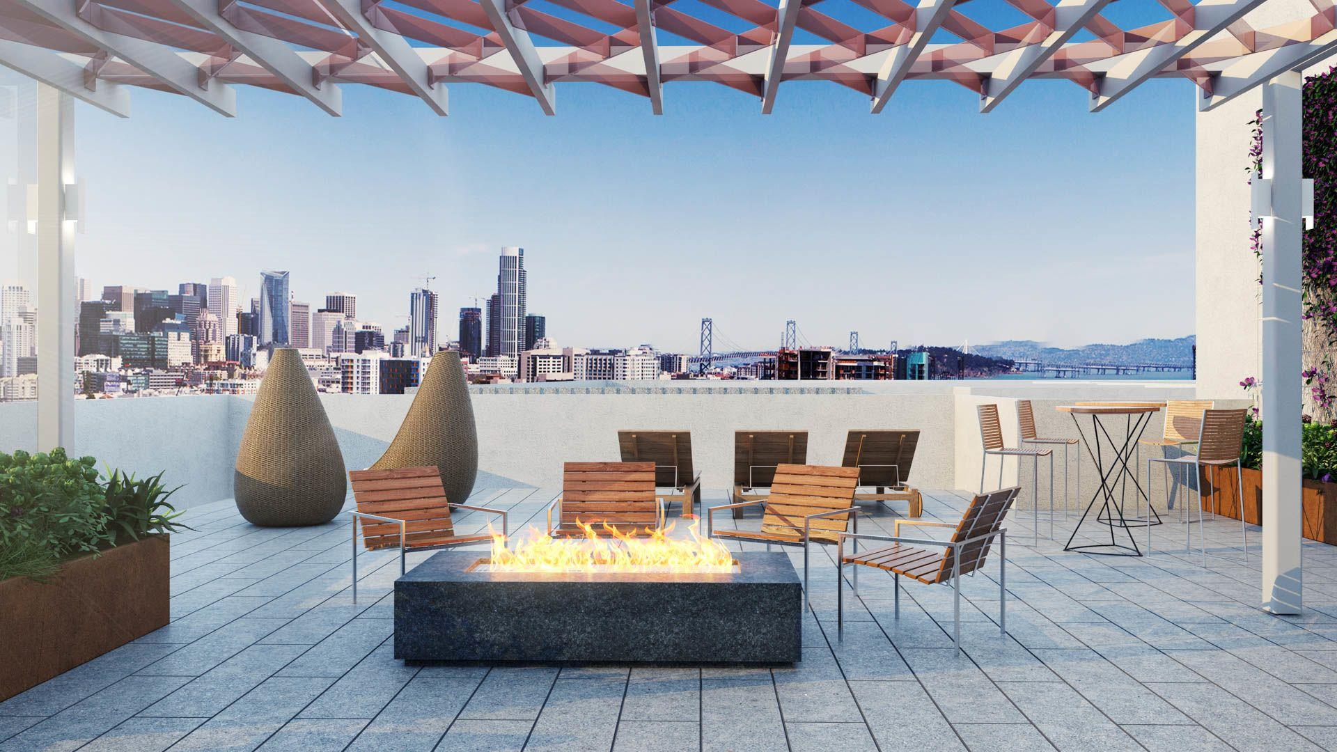 855 Brannan Apartments - Lounge