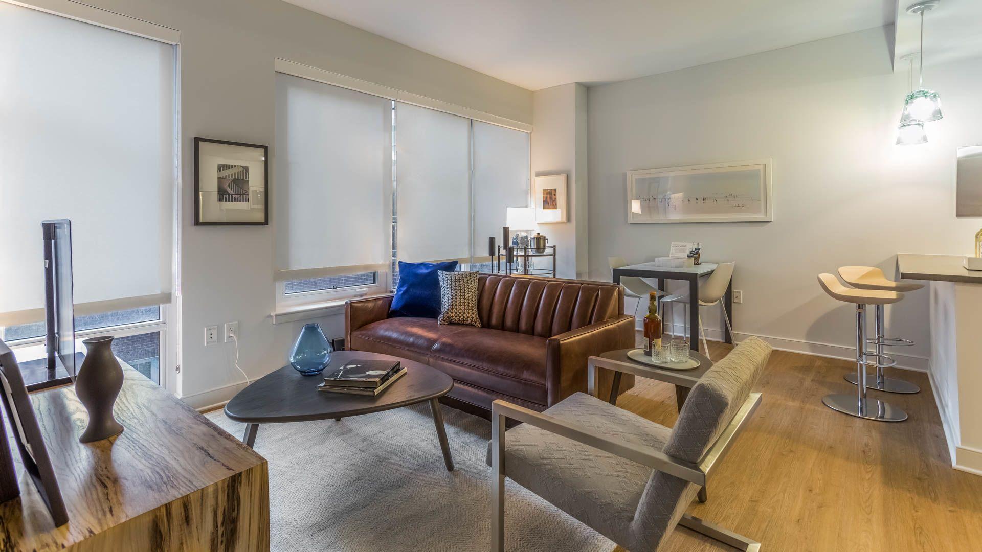 455 Eye Street Apartments - Living Room