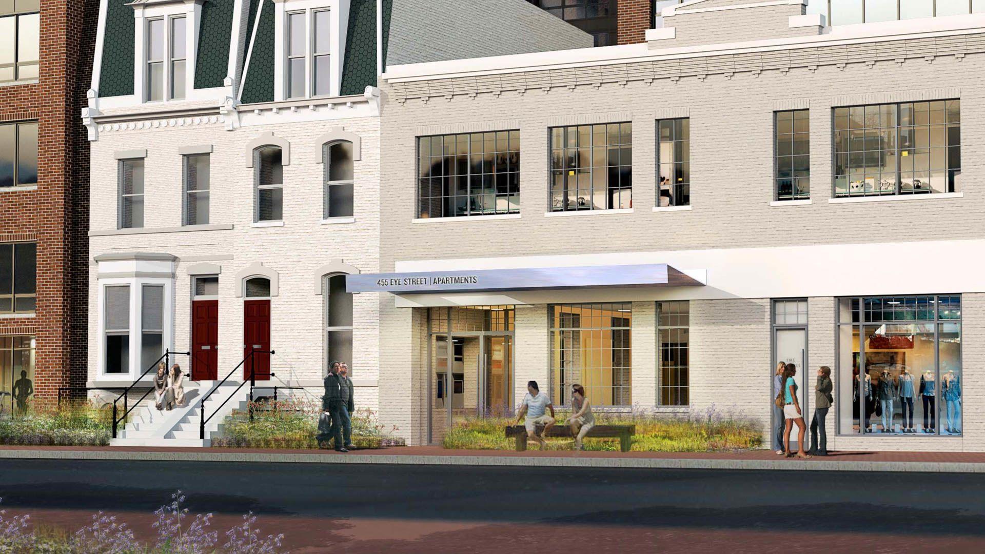 455 Eye Street Apartments - Exterior