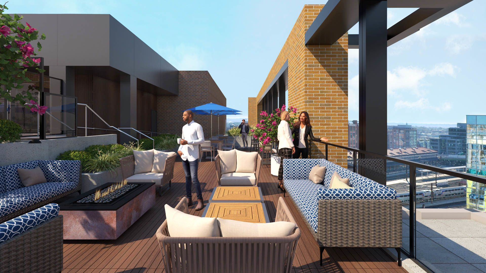 100K Apartments - Rooftop Lounge