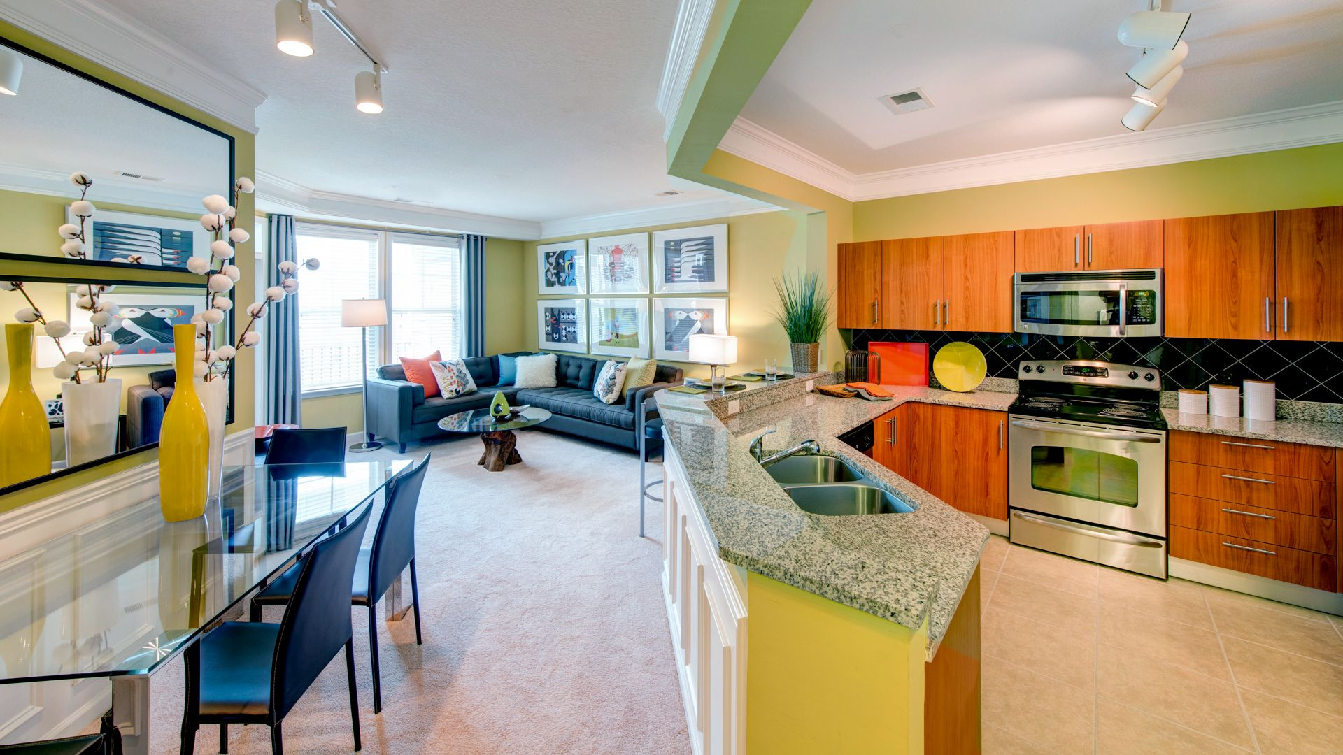 Gaithersburg Station Apartments - Kitchen and Dining Area