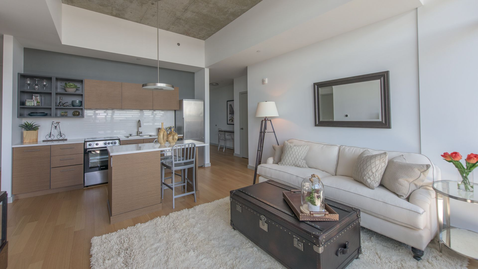 315 on A Apartments - Living Area