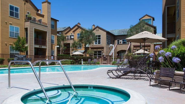 City Gate at Cupertino Apartments - Pool and Hot Tub