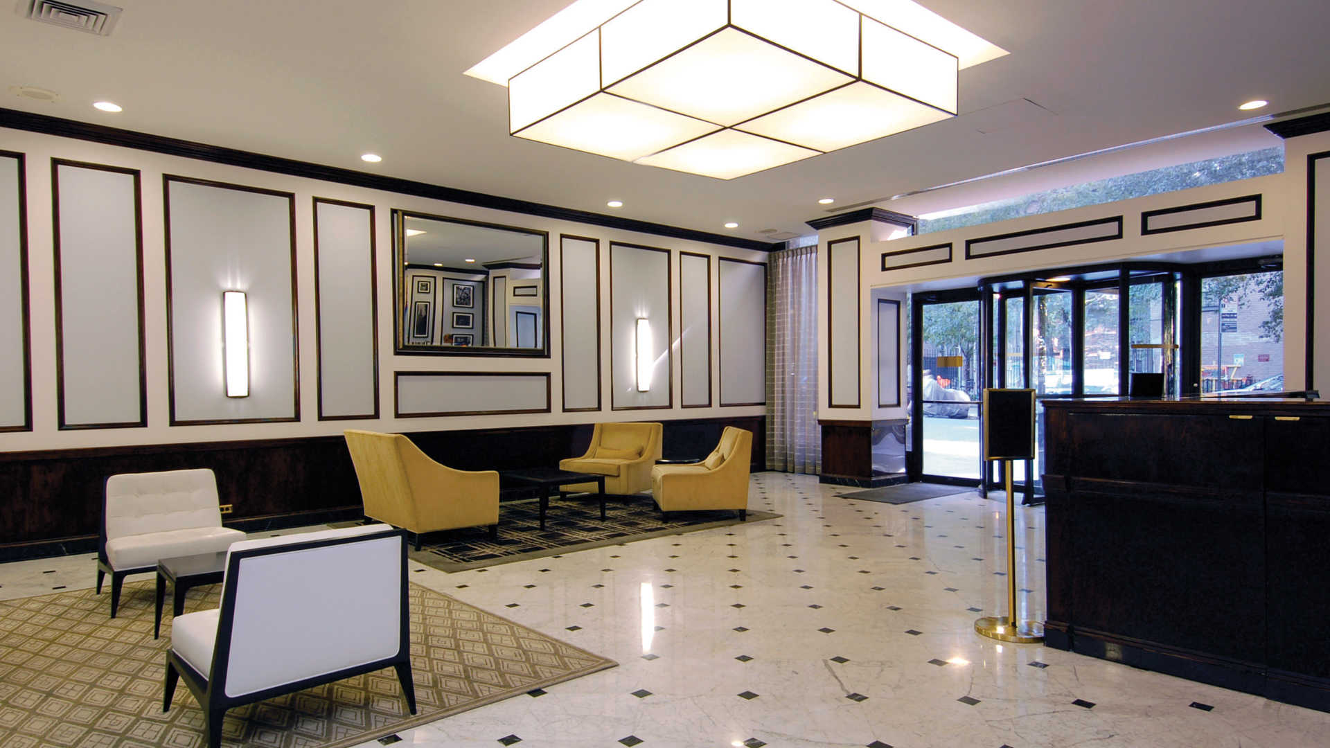 Parc east apartments lobby