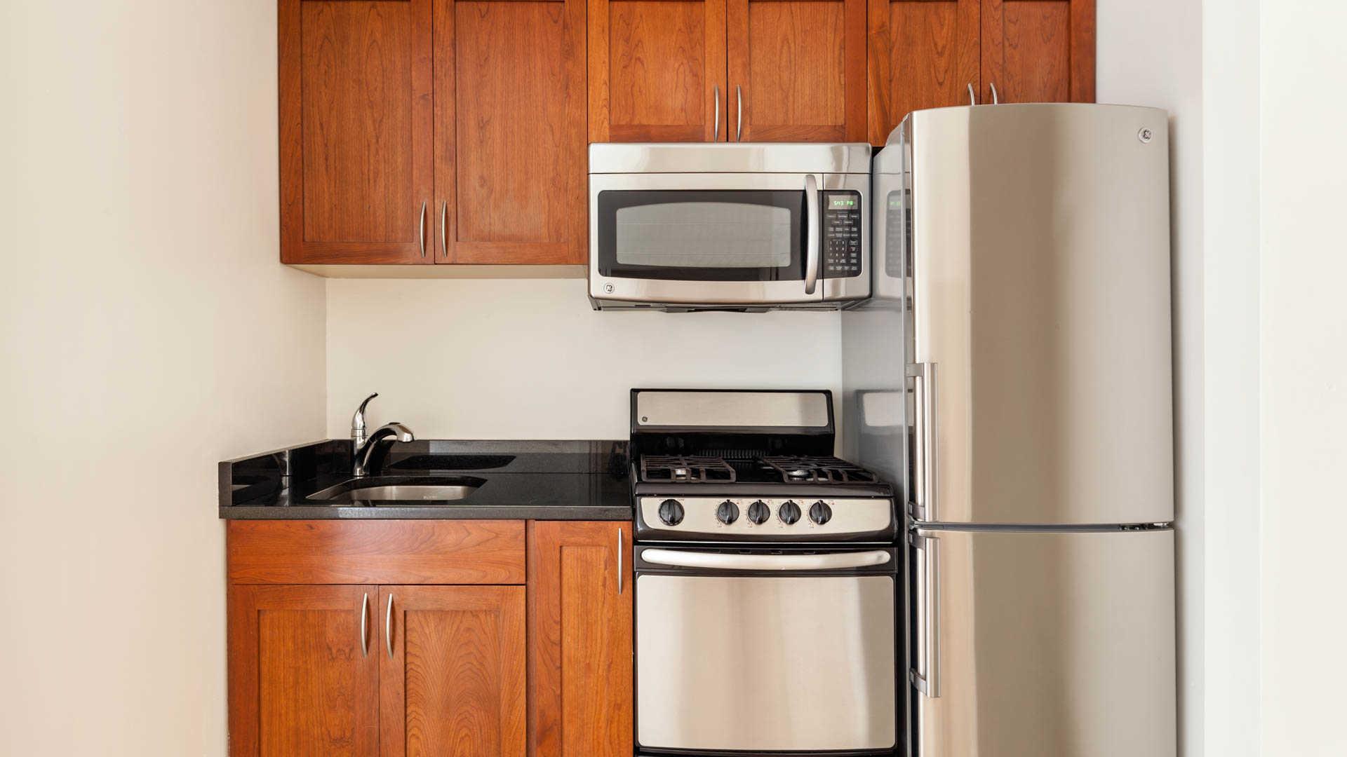 New york studio at west 71st street 2175 apartable for Studio apartment kitchen appliances