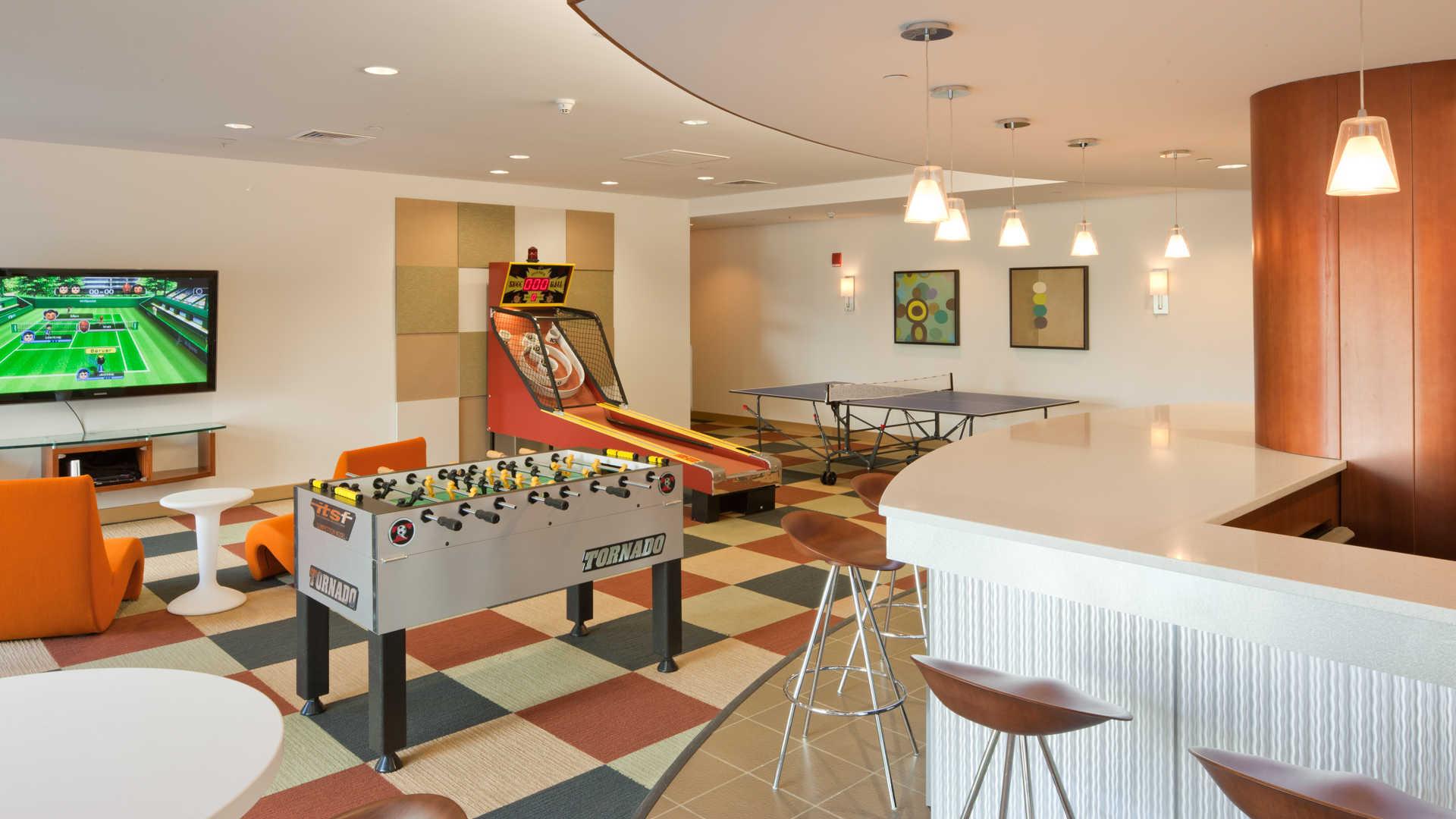 Third square apartments game room