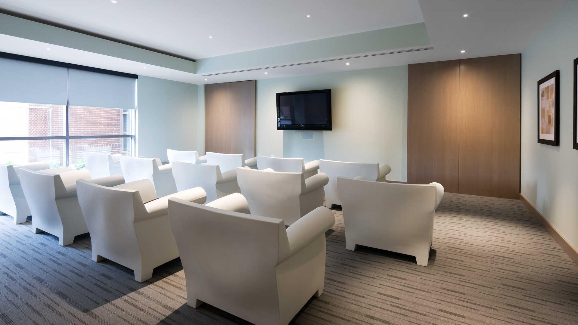 Third square apartments media room