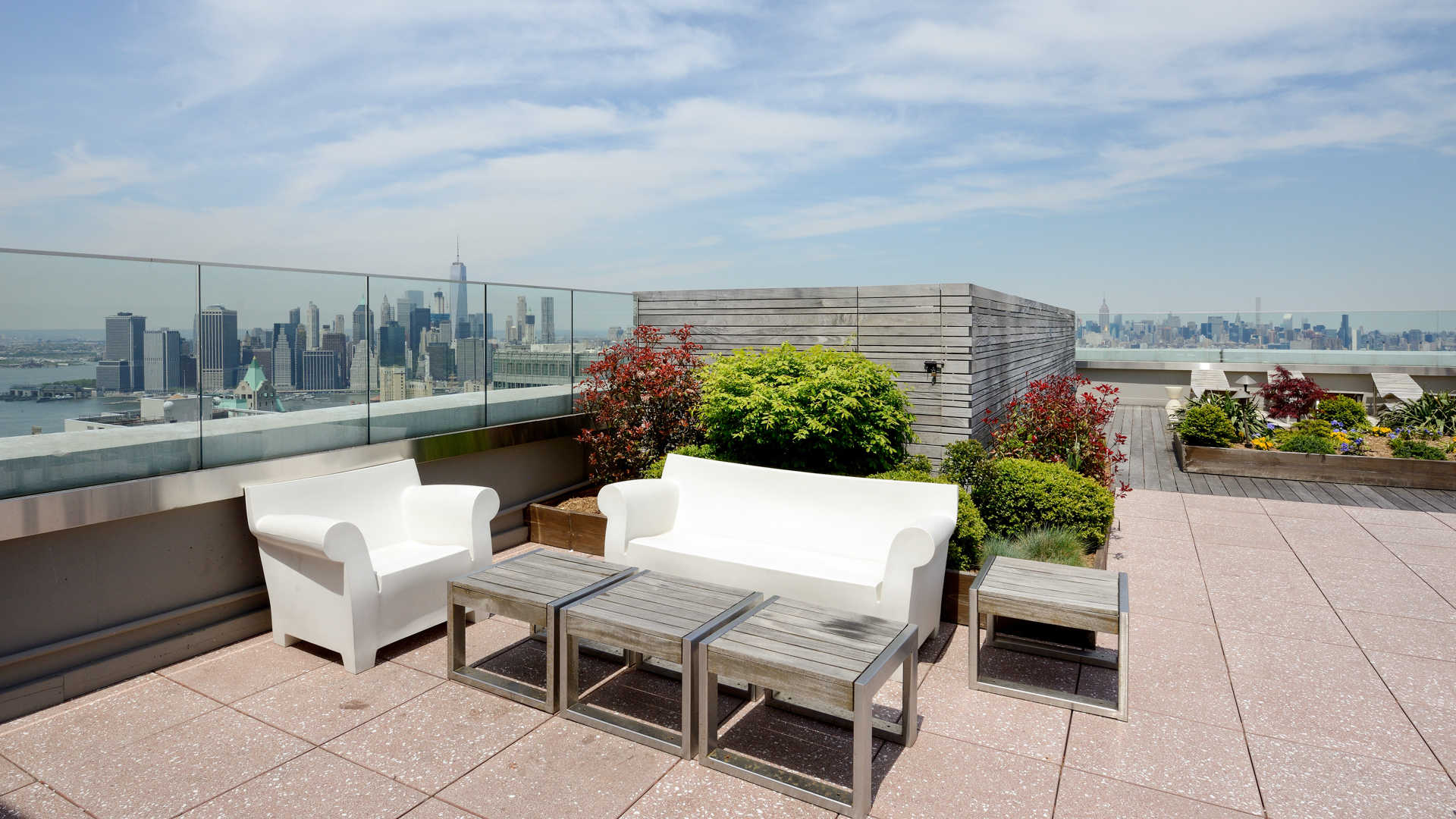 Rooftop Lounge with Views of the City