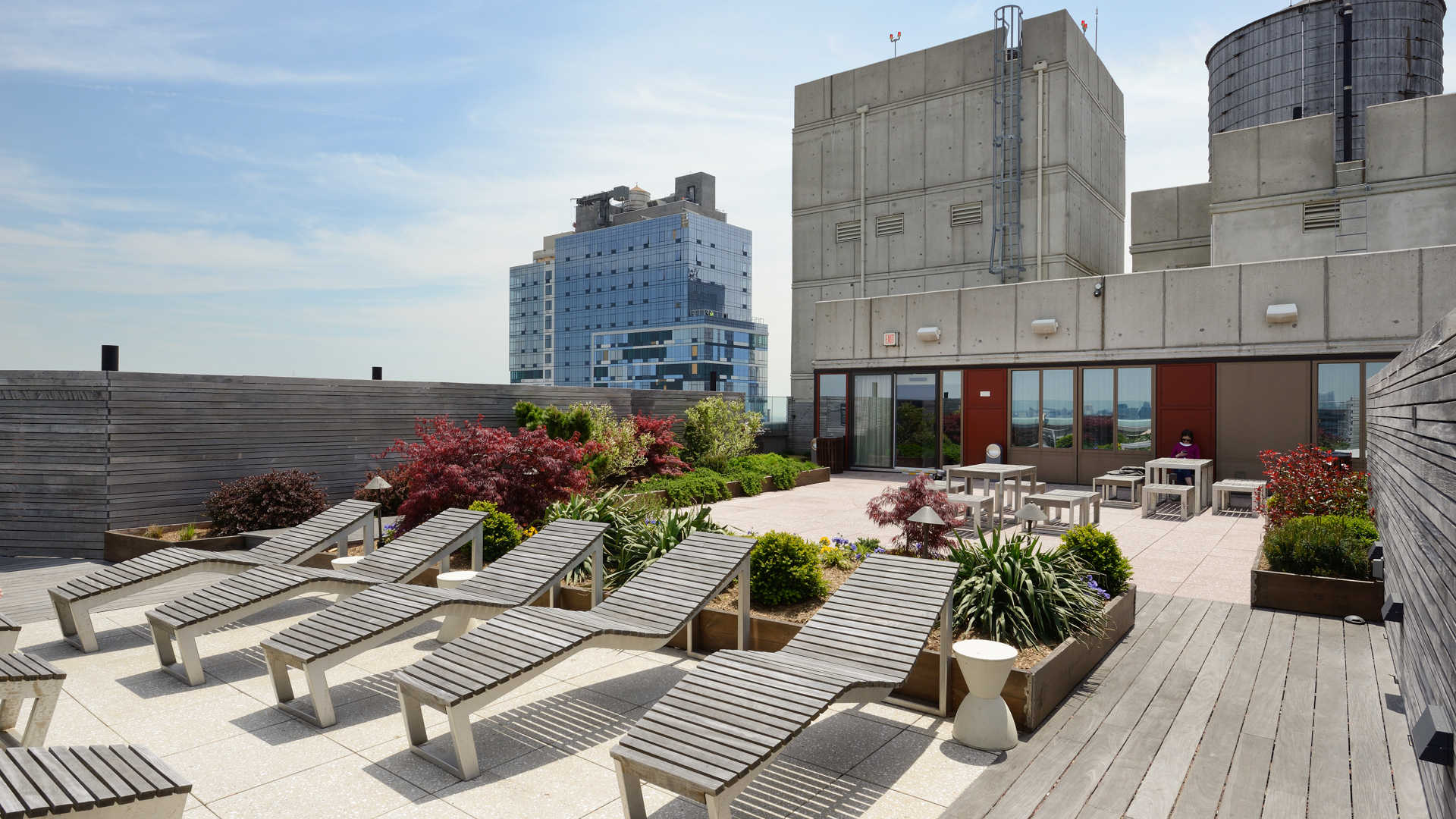 The brooklyner apartments rooftop