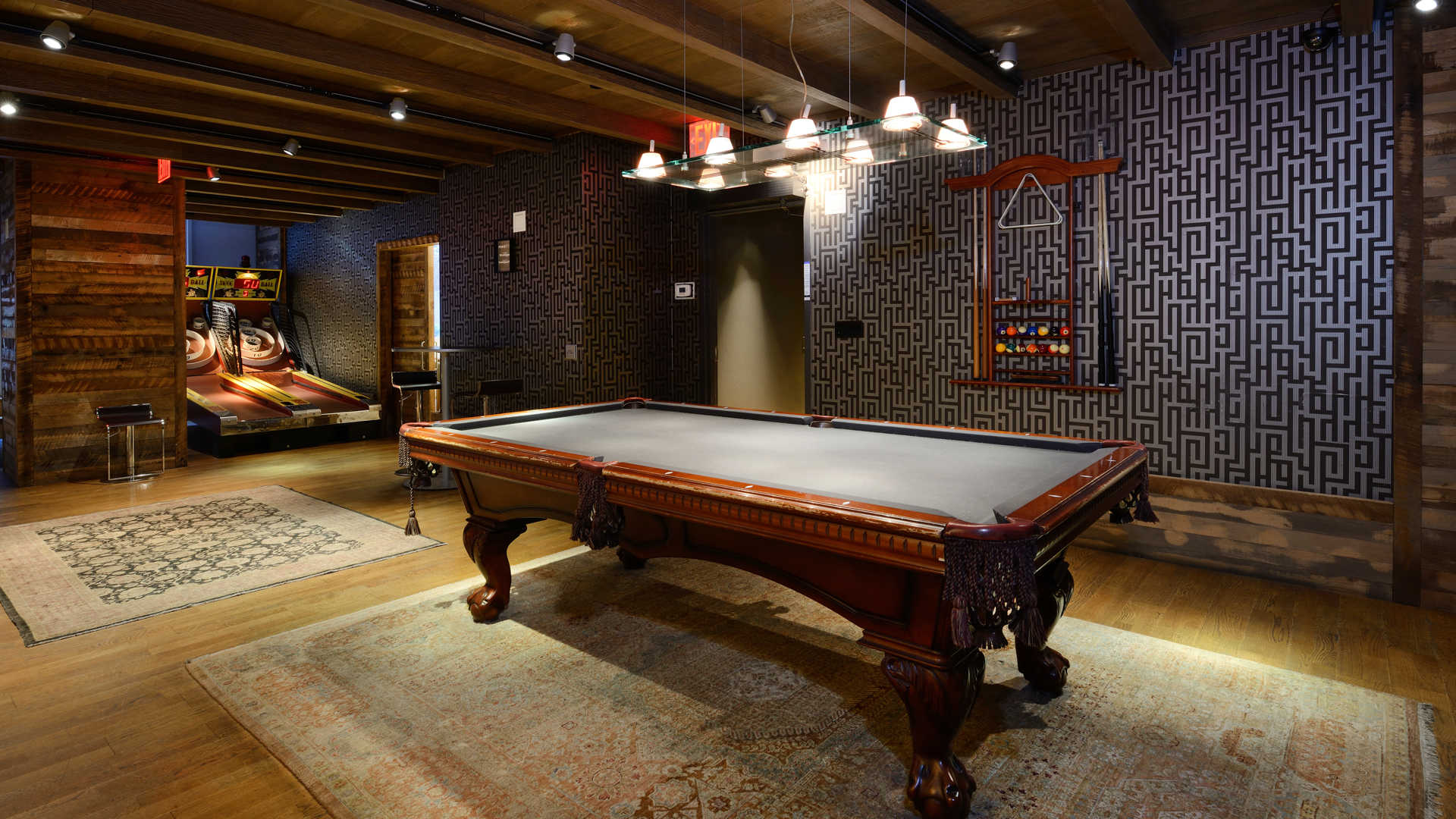 Lounge and Game Room with Billiards