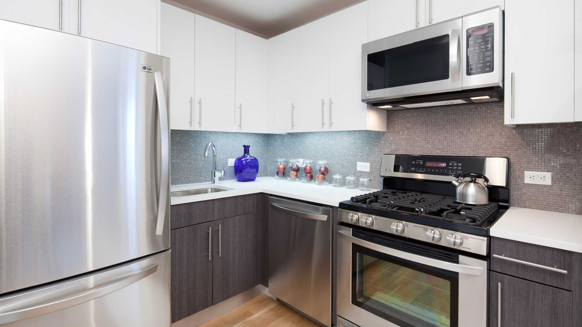 Kitchen with Gas Stove and Stainless Appliances