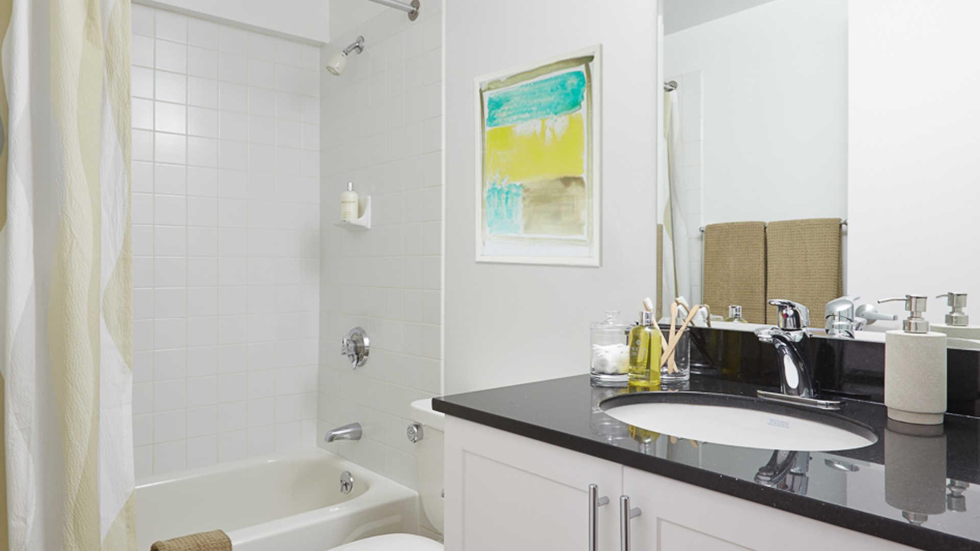 Lofts at kendall square apartments bathroom
