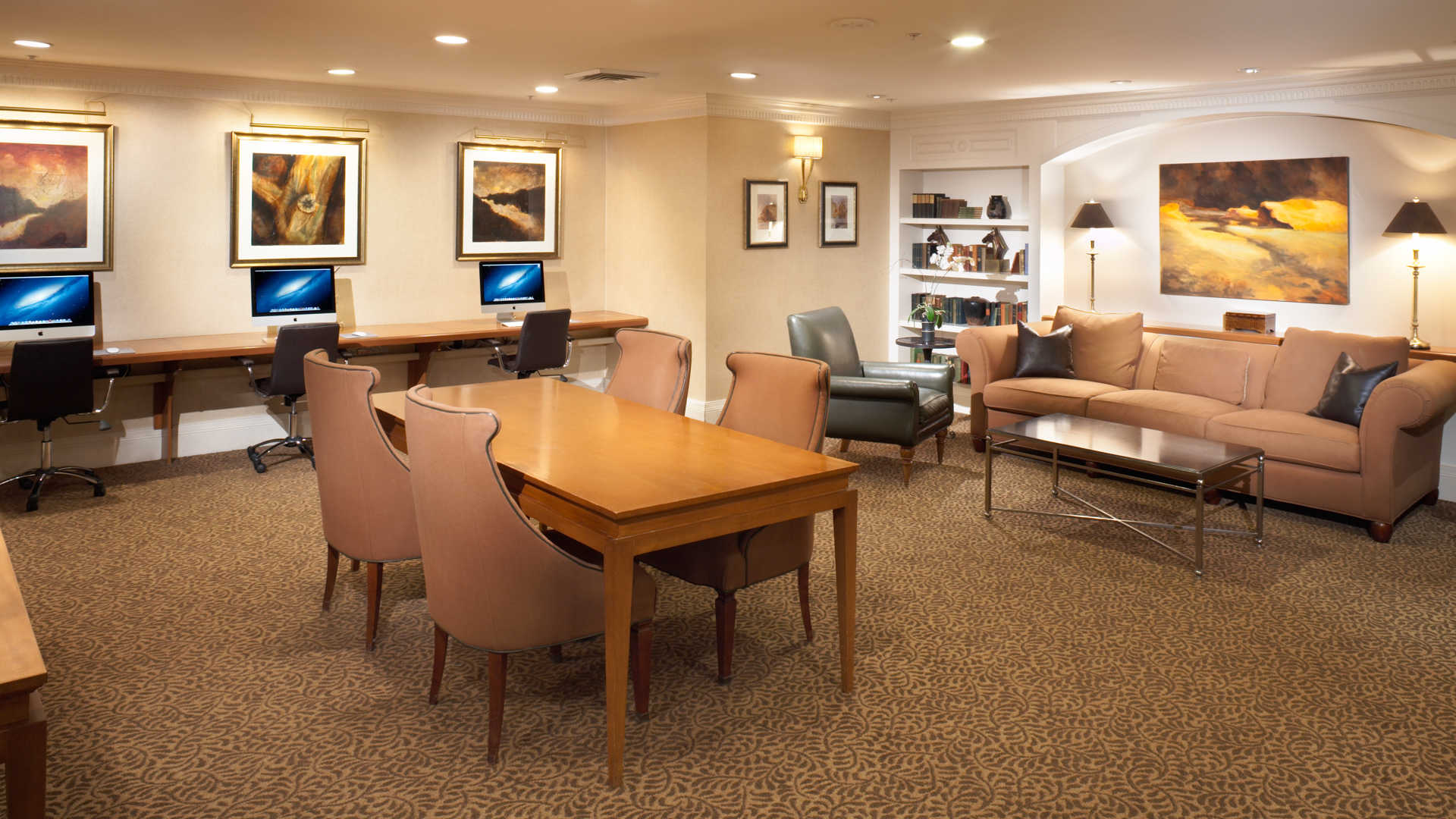 Business Center with Conference Room and WiFi Access