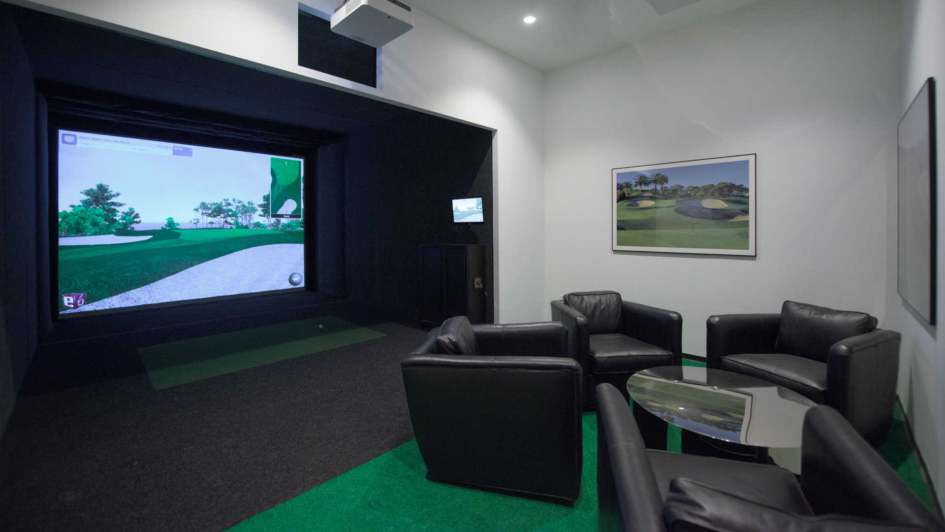 Golf Simulator and Game Room
