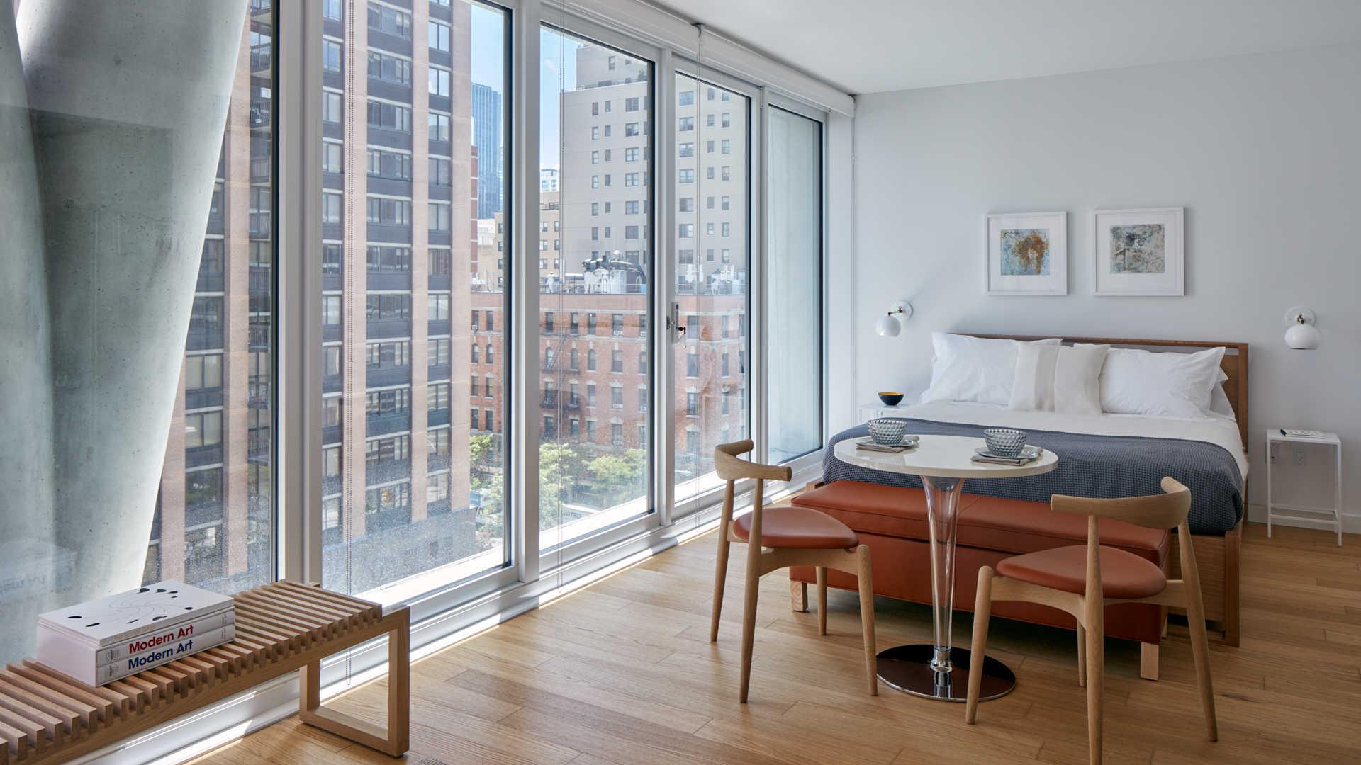 Studio with Floor-to-Ceiling Windows