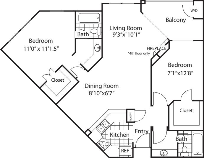 Amalfi Split Floorplan