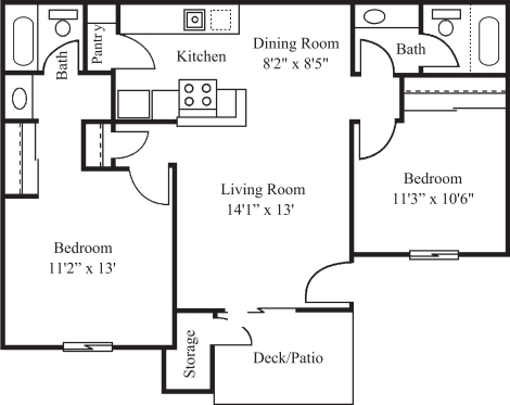 Two Bed Two Bath