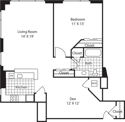One Bedroom 1036