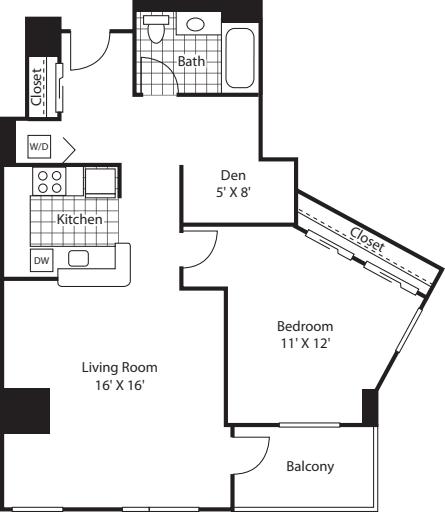 One Bedroom 857