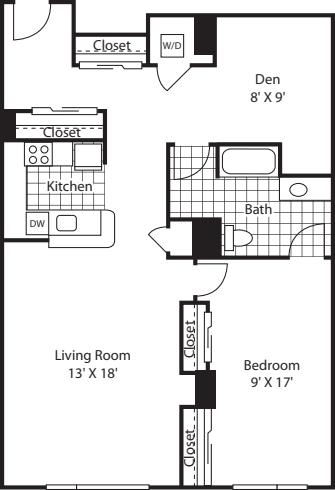 One Bedroom 1097